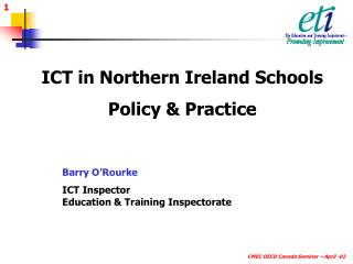ICT in Northern Ireland Schools Policy & Practice