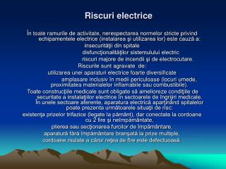 Riscuri electrice