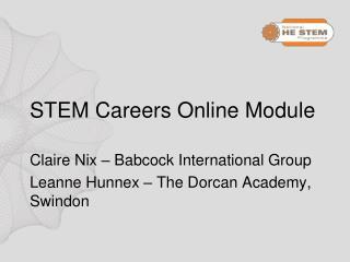 STEM Careers Online Module