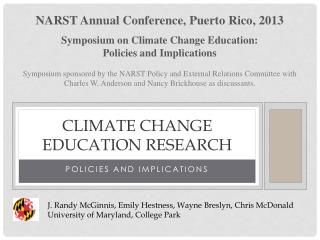 Climate Change Education Research