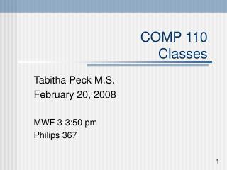 COMP 110 Classes