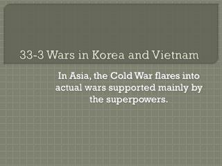 33-3 Wars in Korea and Vietnam