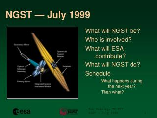 NGST — July 1999