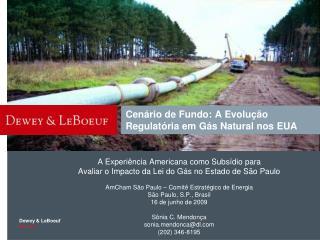 Cenário de Fundo: A Evolução Regulatória em Gás Natural nos EUA