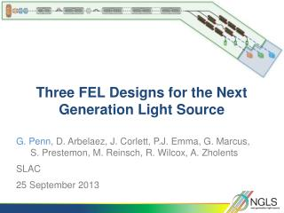 Three  FEL  Designs for the Next Generation Light Source