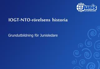 IOGT-NTO-rörelsens historia