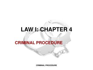 LAW I: CHAPTER 4