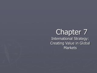 International Strategy: Creating Value in Global Markets