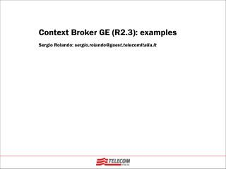 Context Broker GE (R2.3): examples