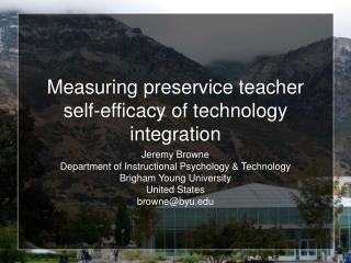 Measuring preservice teacher self-efficacy of technology integration