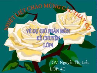 GV: NguyÔn ThÞ BÝch Loan