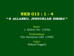 NKB  013  : 1 -  4