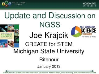 Update and Dis cussion on NGSS