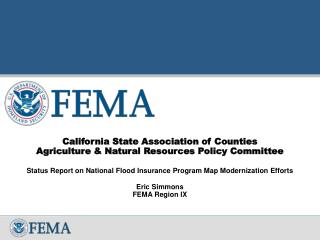 California State Association of Counties Agriculture & Natural Resources Policy Committee