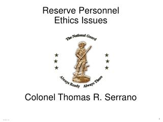 Reserve Personnel Ethics Issues