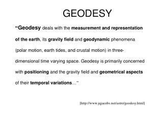 GEODESY