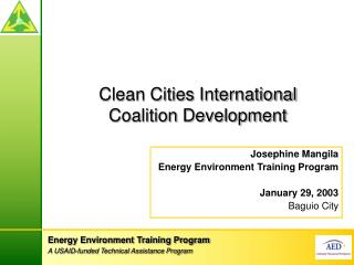 Clean Cities International Coalition Development