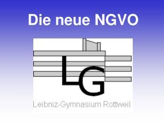 Die neue NGVO