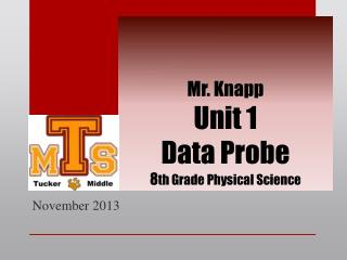 Mr. Knapp  Unit 1 Data Probe 8 th Grade Physical Science