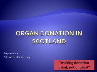 Organ Donation in Scotland