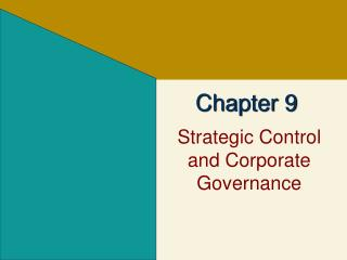 Strategic Control and Corporate Governance