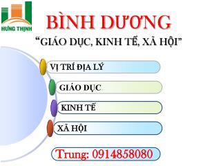 B�NH D??NG  � GI�O D?C, KINH T?, X� H?I�