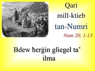 Qari  mill-ktieb  tan-Numri Num 20, 1-13