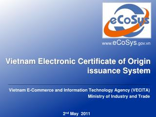 Vietnam Electronic Certificate of Origin issuance System