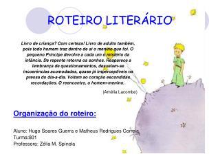 ROTEIRO LITERÁRIO