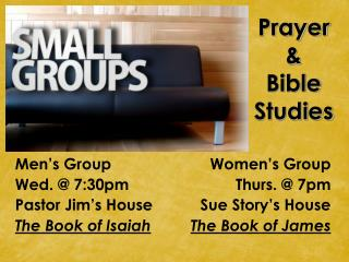 Prayer  &  Bible Studies