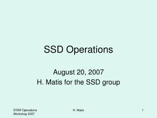 SSD Operations
