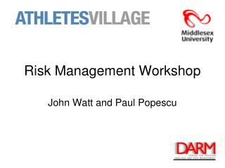 Risk Management Workshop