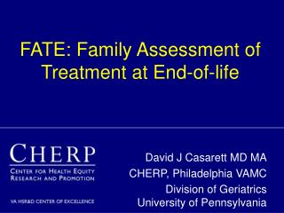 FATE: Family Assessment of Treatment at End-of-life