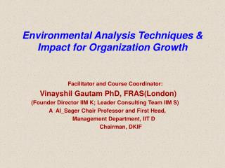 Environmental Analysis Techniques  Impact for Organization Growth