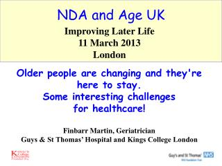 NDA and Age UK
