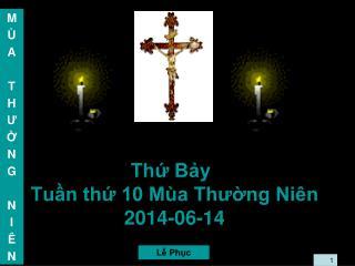 Thứ Bảy Tuần thứ 10 Mùa Thường Niên 2014-06-14