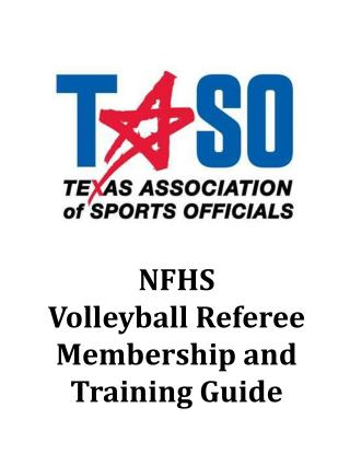 NFHS Volleyball Referee Membership and Training Guide