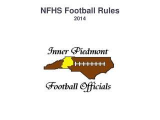 NFHS Football Rules  2014
