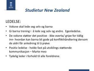 Studietur New Zealand