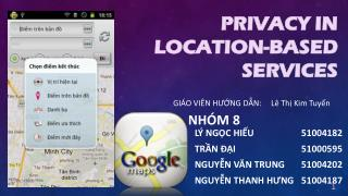 PRIVACY in  location-based services