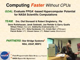 Computing Faster Without CPUs