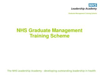 NHS Graduate Management  Training Scheme