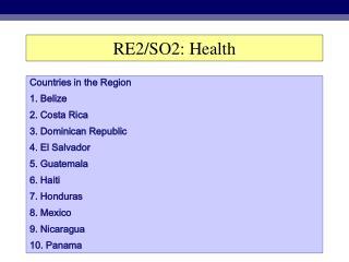 RE2/SO2: Health