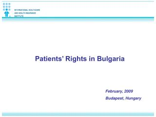 Patients' Rights in Bulgaria