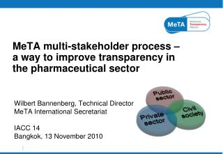 MeTA multi-stakeholder process –  a way to improve transparency in the pharmaceutical sector
