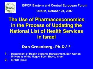 Dan Greenberg, Ph.D. 1,2