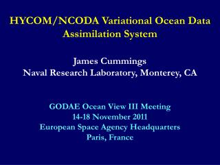 HYCOM/NCODA Variational Ocean Data Assimilation System