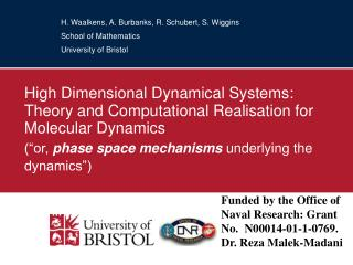 High Dimensional Dynamical Systems: Theory and Computational Realisation for Molecular Dynamics