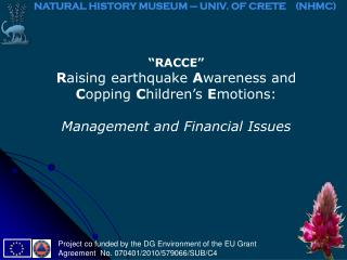 """RACCE"" R aising earthquake  A wareness and  C opping  C hildren's  E motions:"