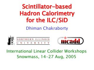 Scintillator-based Hadron Calorimetry for the ILC/SiD